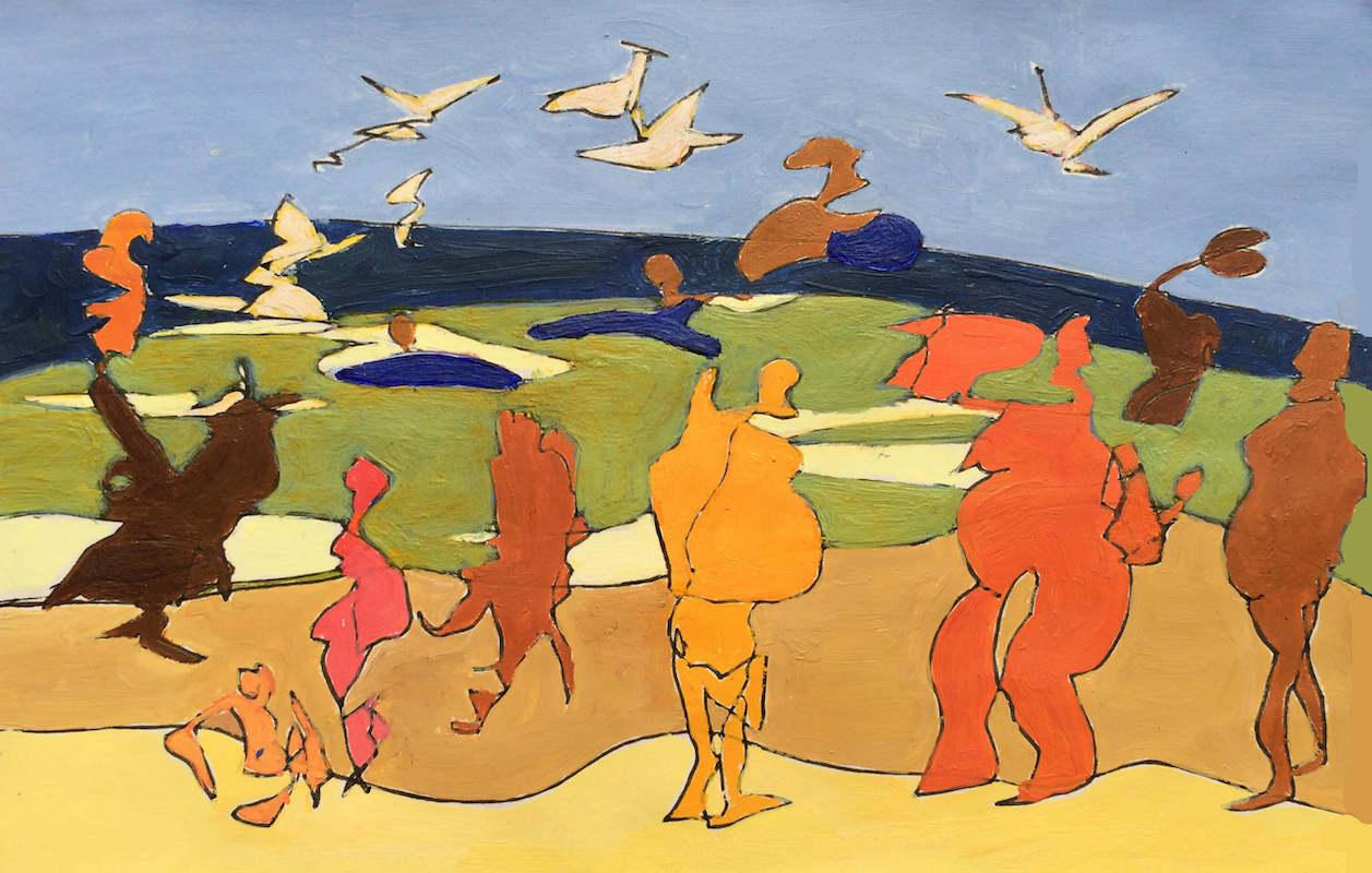 Sketch: Saccadic Figures - Baltic Beach