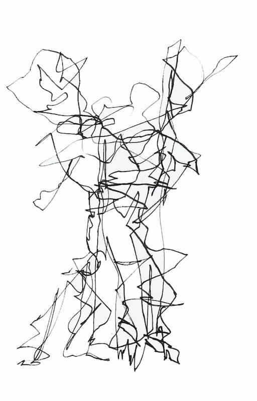 Figurative Sketch: Auto Drawing Flamenco Dancer Madrid