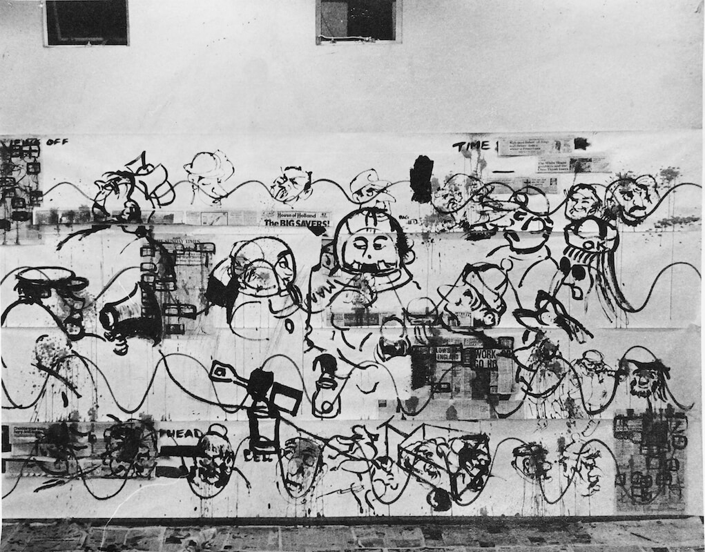 Time Line Wall Painting by Paul Rinne, 1971